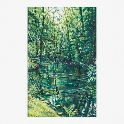 James Prosek, 'Joe Haines Trout Fishing on the Aspetuck River', 1995