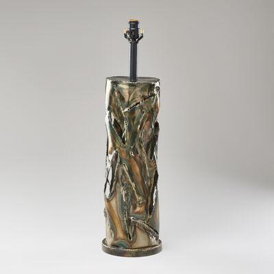 Marcello Fantoni, 'Torch-cut metal table lamp', ca. 1960s