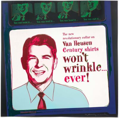 Andy Warhol, 'Van Heusen (Ronald Reagan), from Ads', 1985