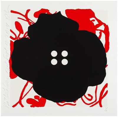 Donald Sultan, 'Button Flowers Red, Sept 16, 2014', 16