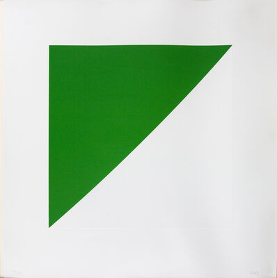 Ellsworth Kelly, 'Green Curve With A Radius Of 20'', 1974