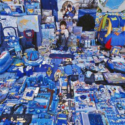 JeongMee Yoon, 'Seunghyuk and His Blue Things', 2007