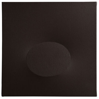 Turi Simeti, 'Un ovale nero', 2016