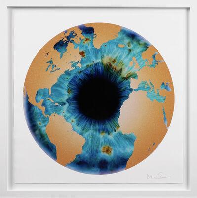 Marc Quinn, ''Iris' with Diamond Dust, Turquoise/Gold ', 2020