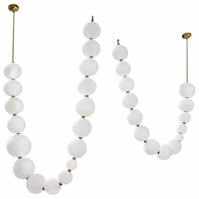Ludovic Clement d'Armont, 'Pair of Pearl Necklace Pendant Lights by Ludovic Clément D'Armont', 2019