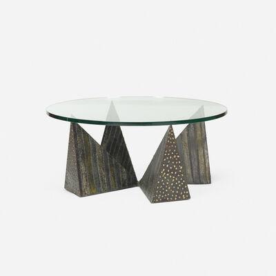 Paul Evans, 'Sculptured Metal coffee table, model PE 14', 1967