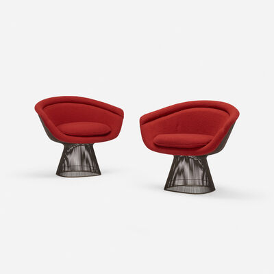 Warren Platner, 'lounge chairs, pair', 1966