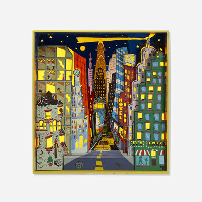 Red Grooms, 'City at Night: A Puzzle Block Set', 1974