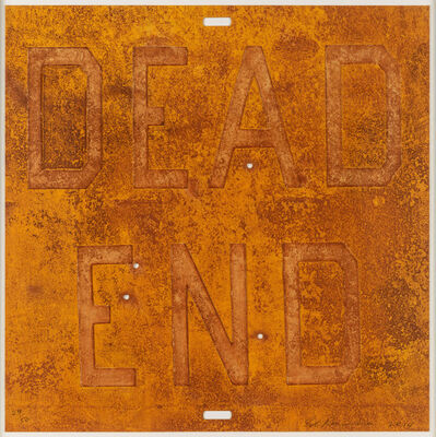 Ed Ruscha, 'Dead End 2, from Rusty Signs', 2014