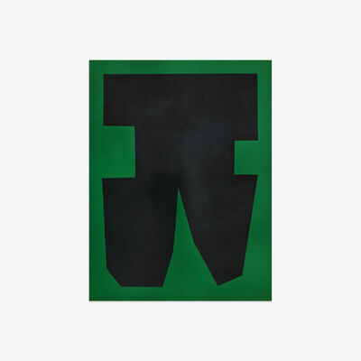 Michael Wall, 'Black on Green Paper I', 2018