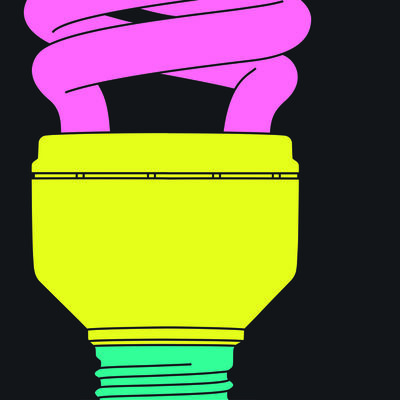 Michael Craig-Martin, 'Light bulb (fragment)', 2015