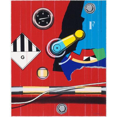 Peter Klasen, 'Manette/G/rond rouge ', 1997