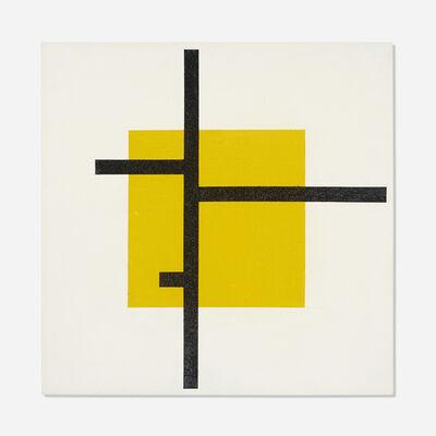 Jose de Rivera, 'Untitled (Black Lines, Yellow Square)', 1982