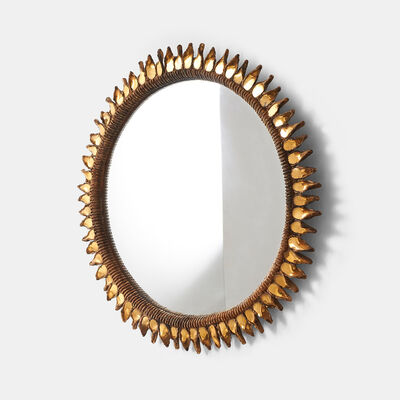 "Line Vautrin, 'Large ""Golden Thistle"" Mirror by Line Vautrin', 1955-1965"