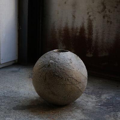 Shiro Tsujimura, 'Round Jar -natural ash graze- st00797', 1980-2010