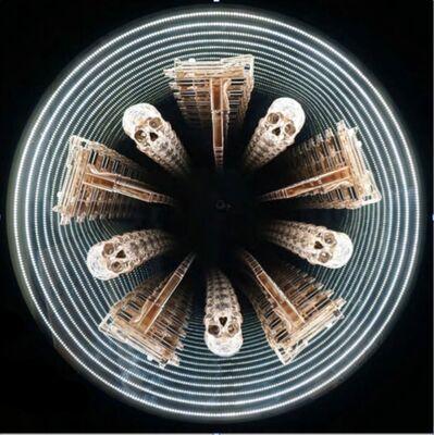 Peter Gronquist, 'Untitled (infinity mandala, mac 10's and skulls)'