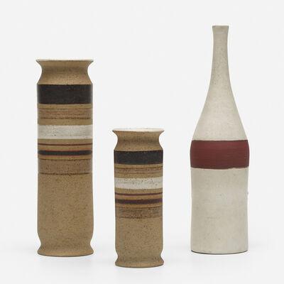 Bruno Gambone, 'collection of three vases', c. 1960