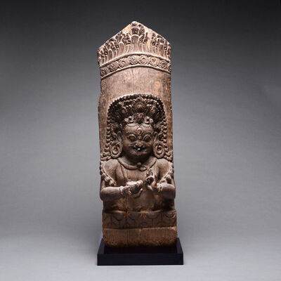 Nepal, 15th century, 'Nepalese Wooden Stele of Bhairava', 15th Century AD to 16th Century AD