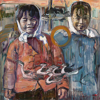 Hung Liu, 'Two Sisters', 2010