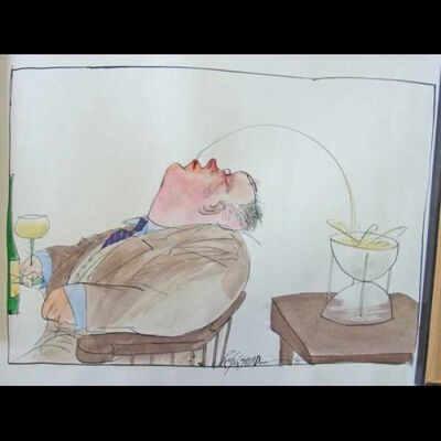 Ralph Steadman, 'Backwards'