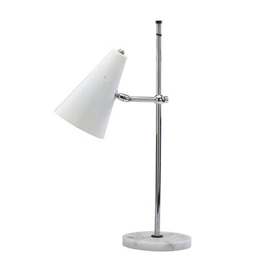 Style of Oluce, 'Adjustable desk lamp with conical shade'