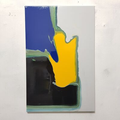 Tomek Baran, 'Gray, Black, Blue, Yellow ', 2020