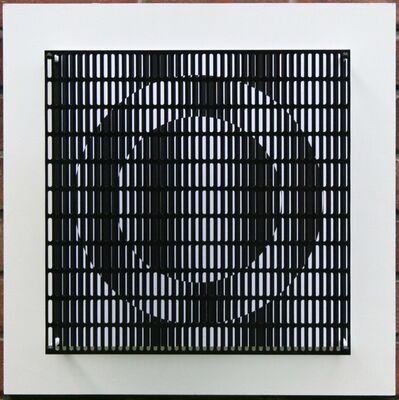 Antonio Asis, 'vibration cercles noir et blanc', 2010
