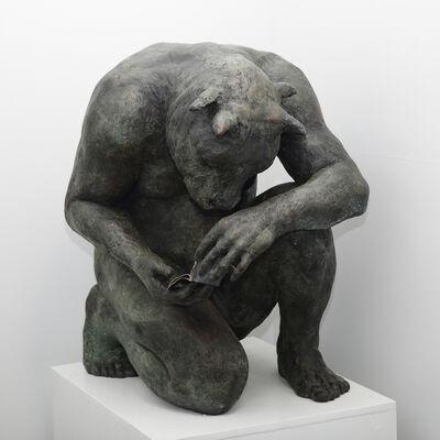 Beth Carter, 'Crouching Minotaur (giant)'