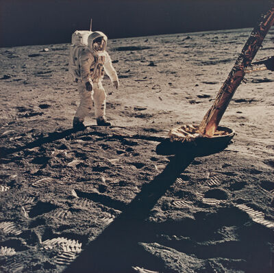 Neil Armstrong, 'Aldrin near the north footpad', 1969