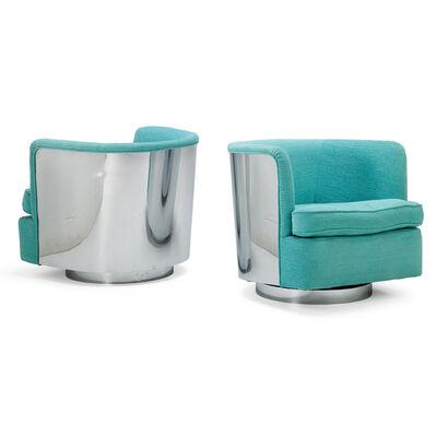 Milo Baughman, 'Pair Of Tilt-Swivel Lounge Chairs, High Point, NC', 1970s