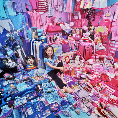 JeongMee Yoon, 'Pink Project II - Maia and Her Pink & Blue Things', 2009