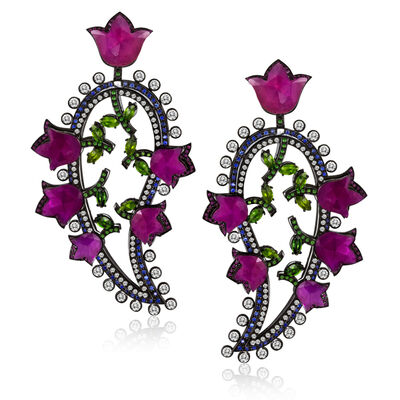 William Ehrlich, 'Paisley Earrings'