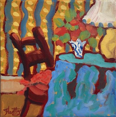 "Claudia Hartley, '""Blue Table Cloth""', 2016"