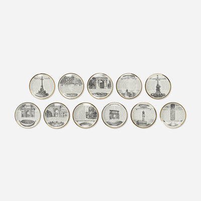 Piero Fornasetti, 'The Glory of Italian Cookery plates, collection of eleven', c. 1965