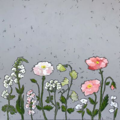 Christie Younger, 'Pops of Pink Poppies', 2019