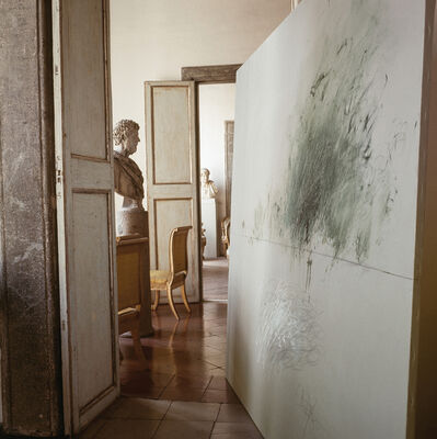 Horst P. Horst, 'Cy Twombly in Rome  - Untitled #13, X Large size: Mounted in Aluminum', 1966