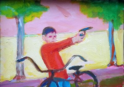 Stephen Lack, 'Red Shirted Gunman', 2017