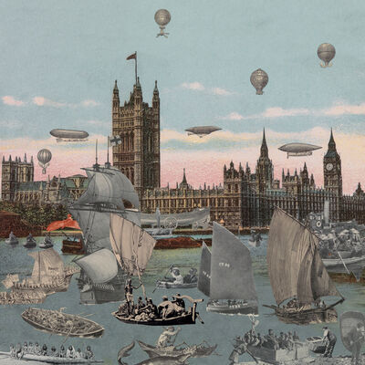 Peter Blake, 'London- River Thames- Regatta', 2012