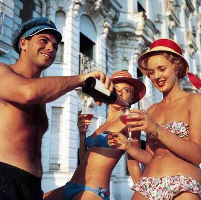 Slim Aarons, 'Top Up ?', 1958