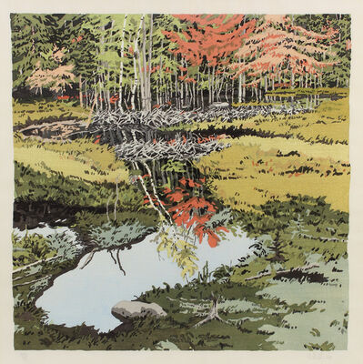 Neil G. Welliver, 'Study for New Dams in Meadow', 1984