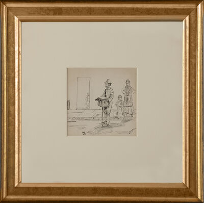 Edward Hopper, 'Hurdy Gurdy Man', ca. 1900