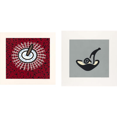 Patrick Caulfield, 'CIGAR; GREY PIPE (CRISTEA 57; 64)', 1978 and 1981