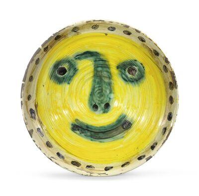Pablo Picasso, 'Visage sur fond jaune. Au verso, quatre études de visage'