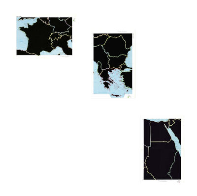 Juan José Martín Andrés, 'Atlas World Series of Selections- 1979 1. France and the Alps,  2. Southeast Europe, 3. Egypt and Sudan', 2017