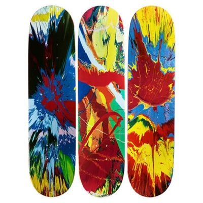 Damien Hirst, 'Set of Three (3) Spin Skate Boards - Skateboard Triptych', 2008