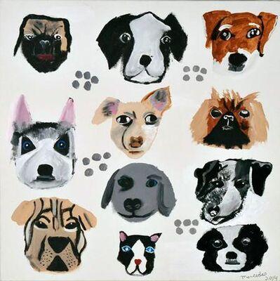 Mercedes Kelly, 'Dog Faces 4', 2014