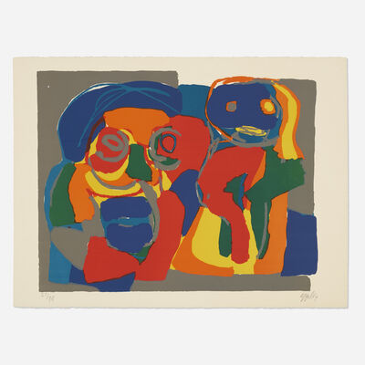 Karel Appel, 'Deux Figures', 1969