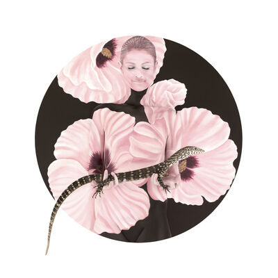 Emma Hack, 'Goanna in Sturt Desert Rose - Native Mandala', 2009