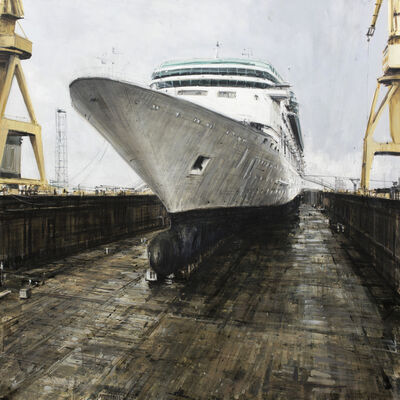 Valerio D'Ospina, 'Cruise Ship in Dry Dock', 2019