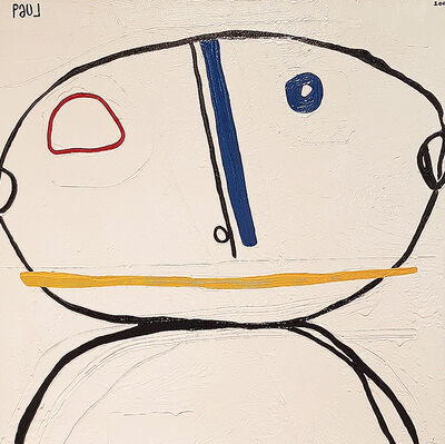 Paul du Toit, 'White Background With Blue Nose'